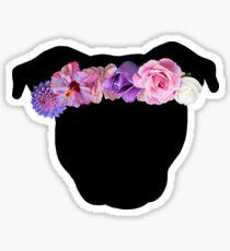 Flower Crown Pittie Sticker