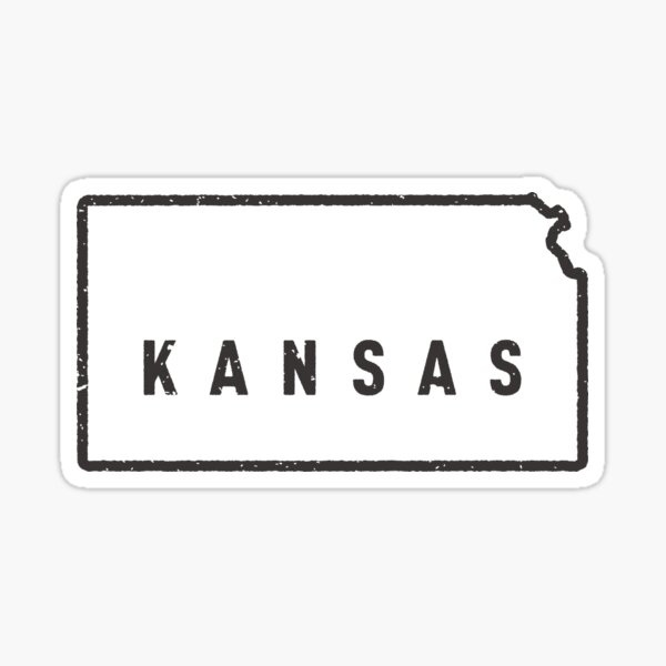 Kansas - My home state Sticker