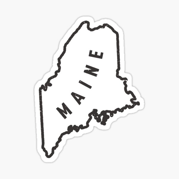 Maine - My home state Sticker