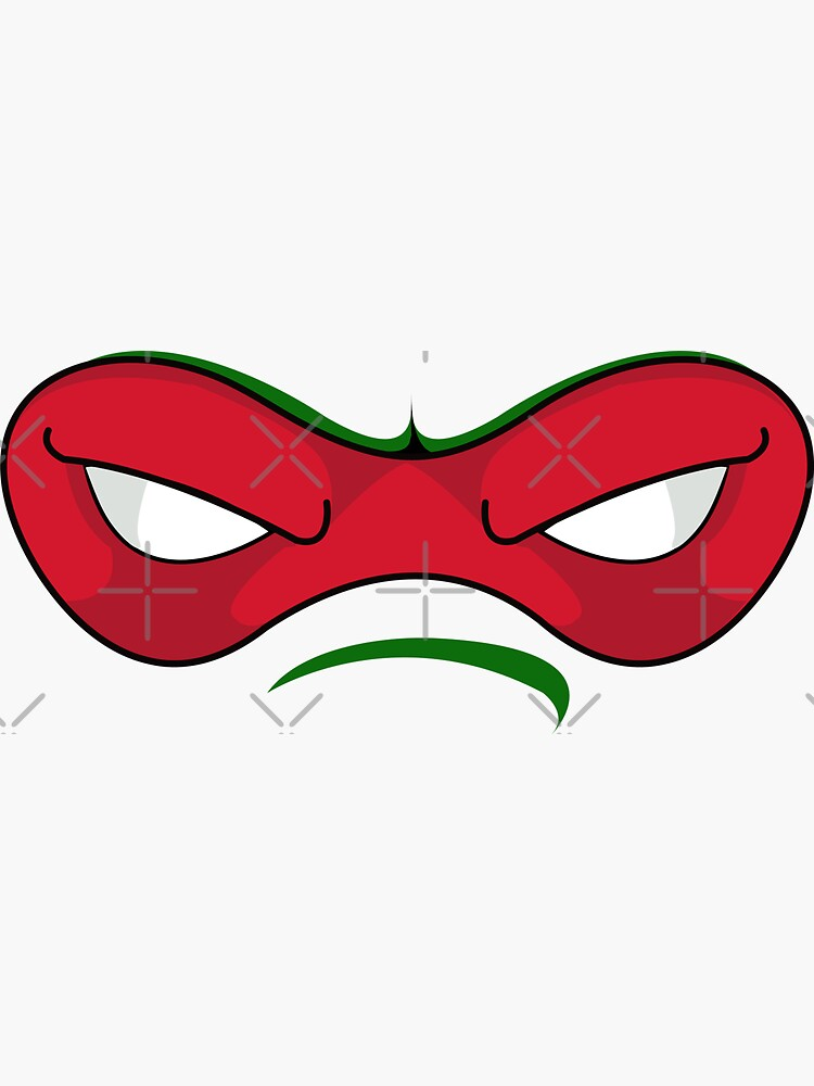 Quot Teenage Mutant Ninja Turtles Raphael Mask Quot Sticker By