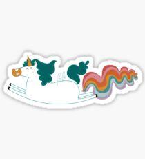 Pegatina Unicorn fart