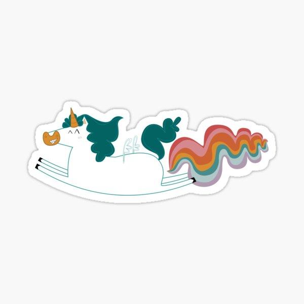 Unicorn fart Pegatina