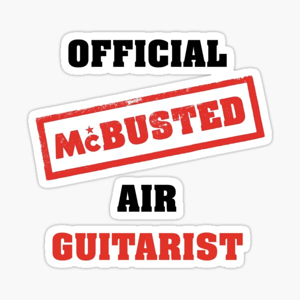 Official McBusted Air Guitarist Sticker
