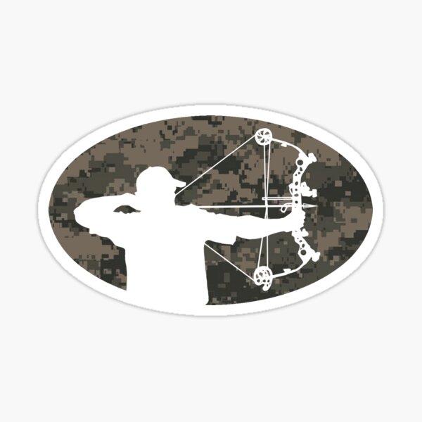 Bow Hunter Sticker (camo version) Sticker