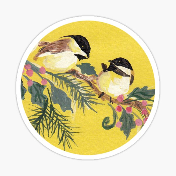 Chickadees from Amphai Sticker
