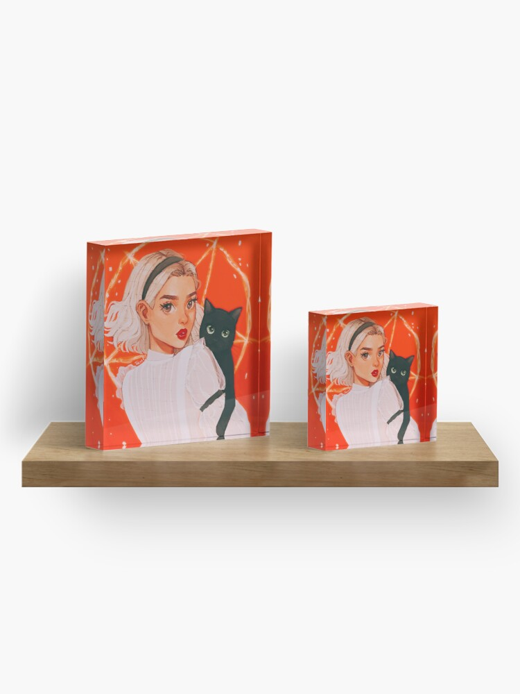 Alternate view of the teenage witch Acrylic Block