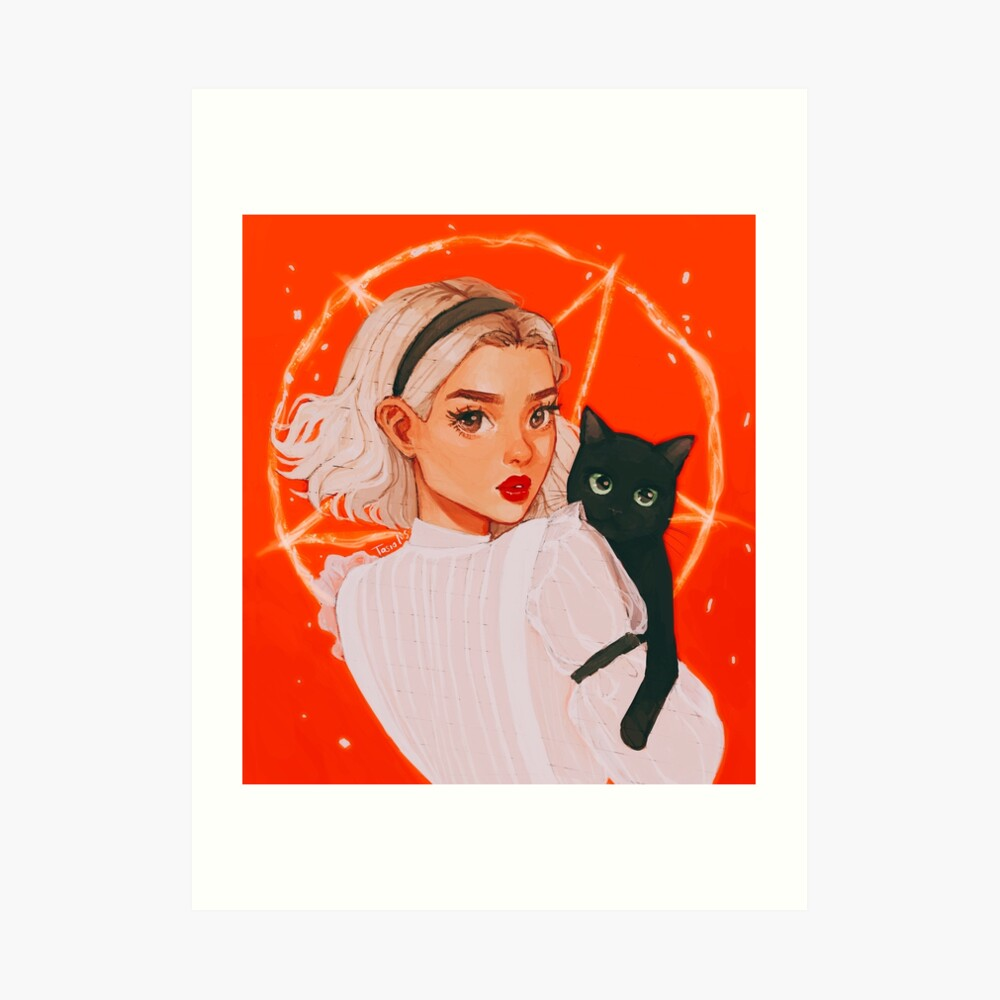 the teenage witch Art Print