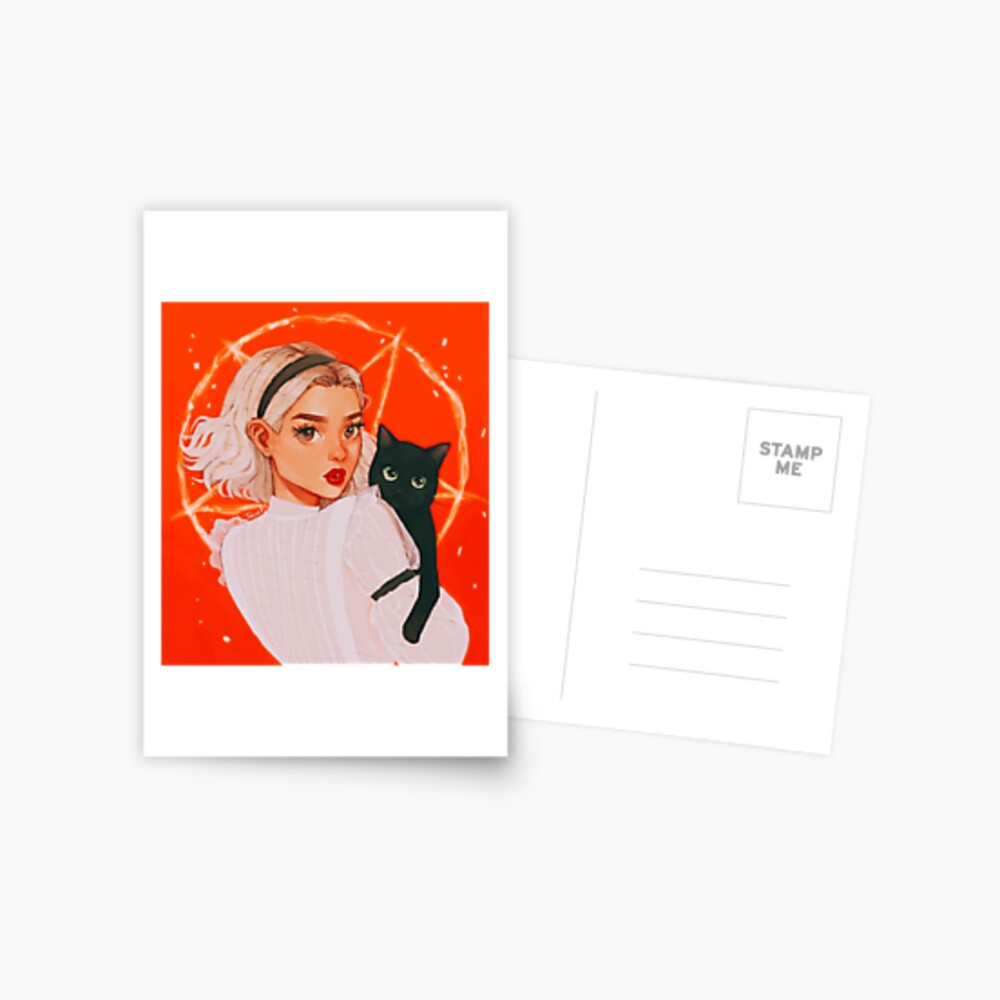 the teenage witch Postcard