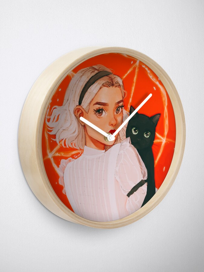 Alternate view of the teenage witch Clock