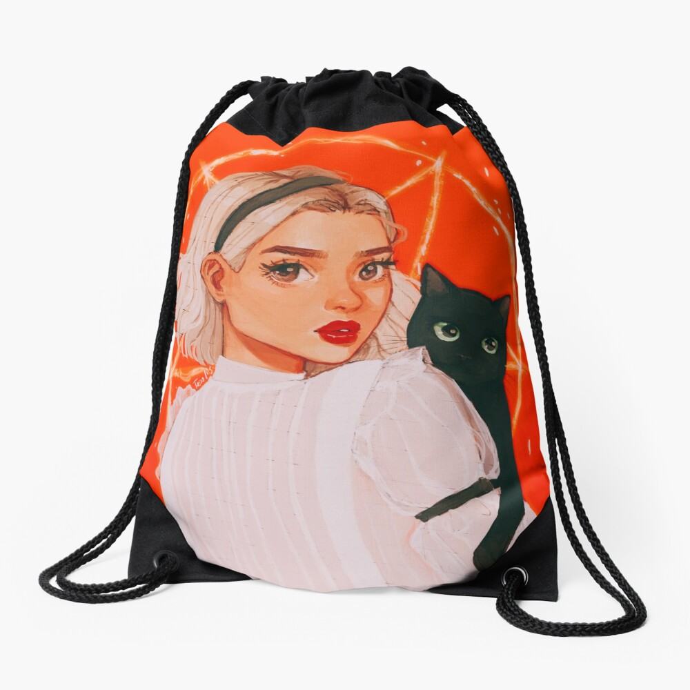 the teenage witch Drawstring Bag