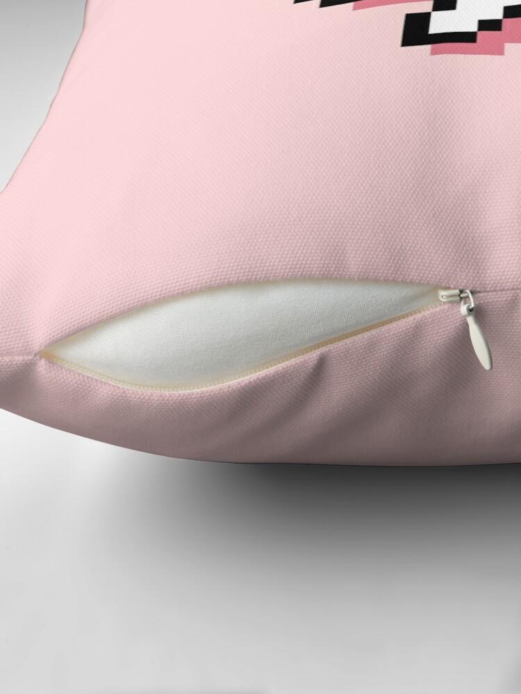 Alternate view of I Bite - Pixel Speech Bubble (Pink) Throw Pillow