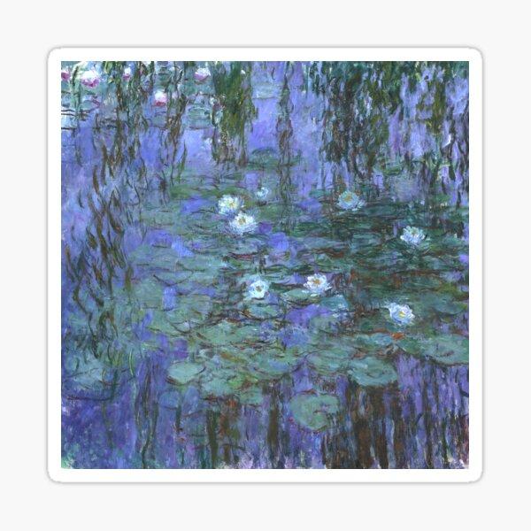 Monet - Blue Waterlilies Sticker