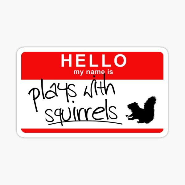 Plays With Squirrels Sticker