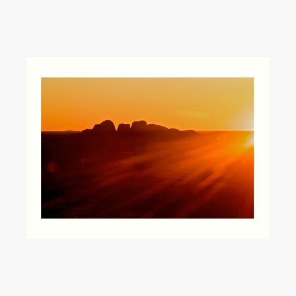 Kata tjuta sunset. Art Print