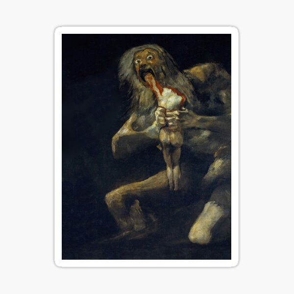 De Goya's Monsters Sticker