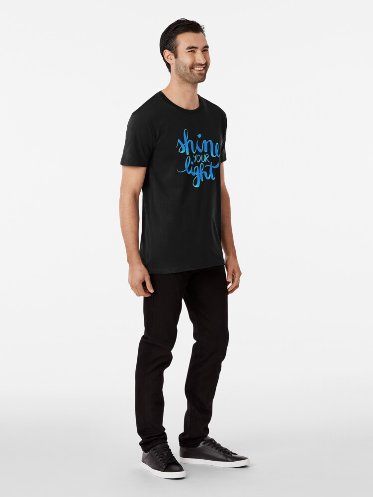 Alternate view of Shine your light watercolor affirmation typographic Premium T-Shirt