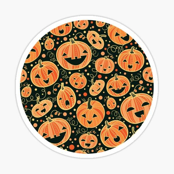 Fun Halloween pumpkins pattern Sticker