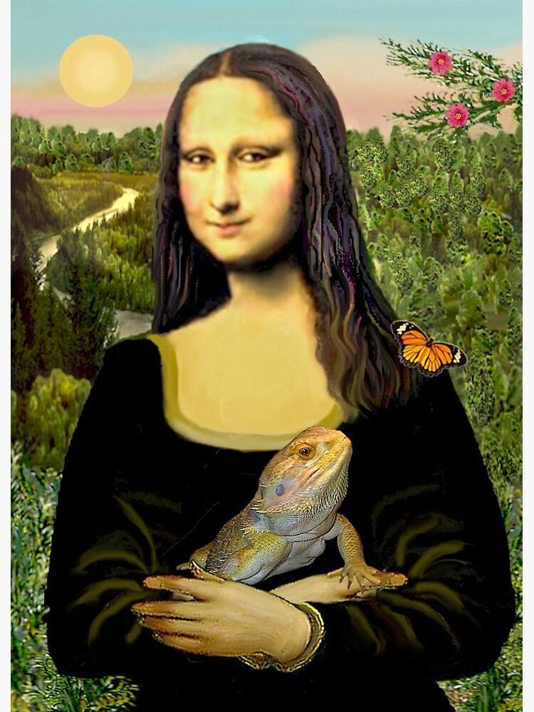 Mona Lisa with her Bearded Dragon by JeanBFitzgerald