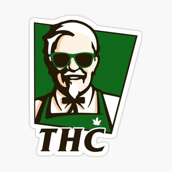 Receta secreta de THC Pegatina