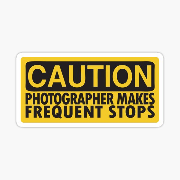 Attention, photographe en service Sticker