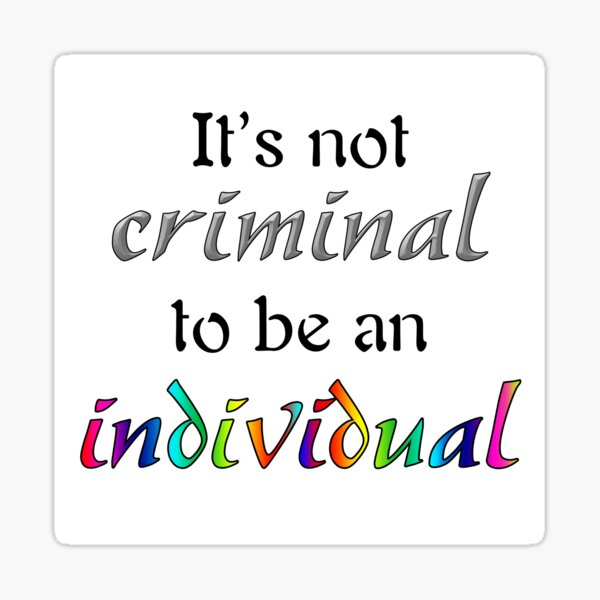 It's Not Criminal - Star Vs Quote Sticker