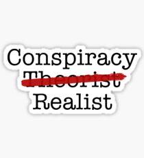 Conspiracy Realist Sticker