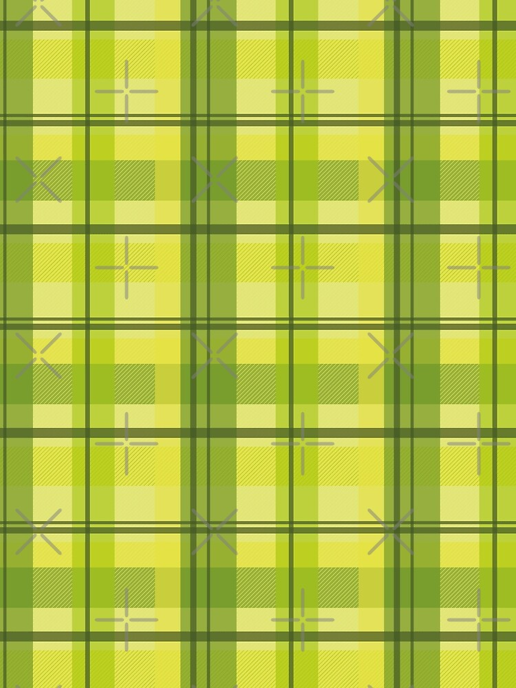 early summer plaid in happy yellow and juicy green seamless pattern	 by nobelbunt