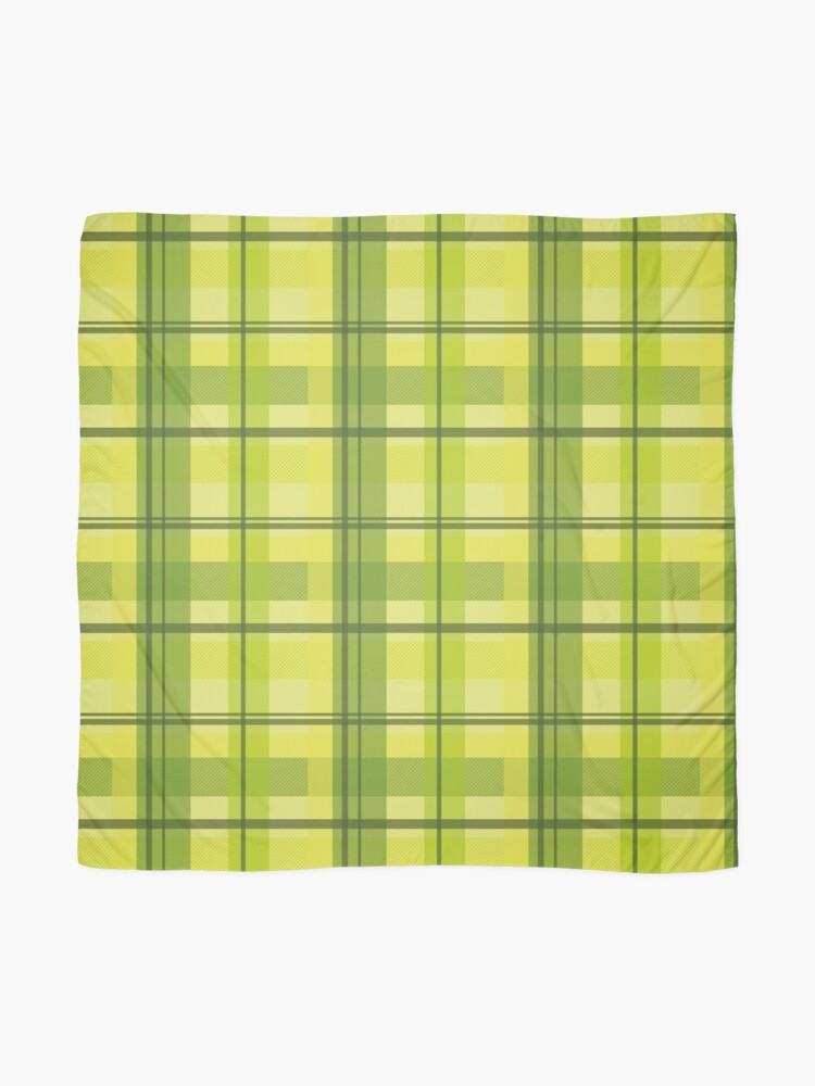 Alternate view of early summer plaid in happy yellow and juicy green seamless pattern	 Scarf