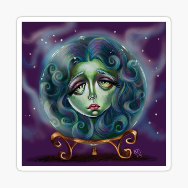 Woman in Crystal Ball  Sticker