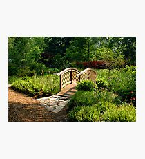 The Bridge At Brookside Gardens Photographic Print