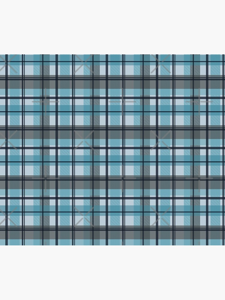 winter plaid in ice blue and navy seamless pattern by nobelbunt