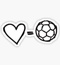 Pegatina amor es igual a fútbol