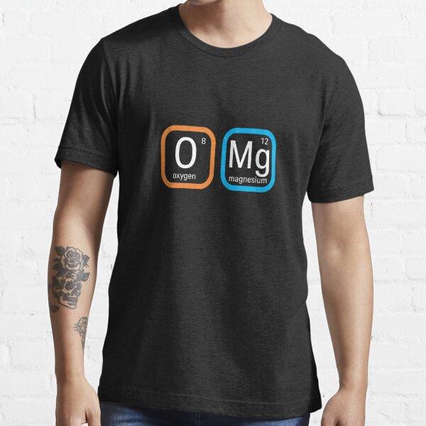 OMG Oxygen Magnesium Mens T Shirt Funny Geek Nerd Big Bang Theory Joke Cool Top