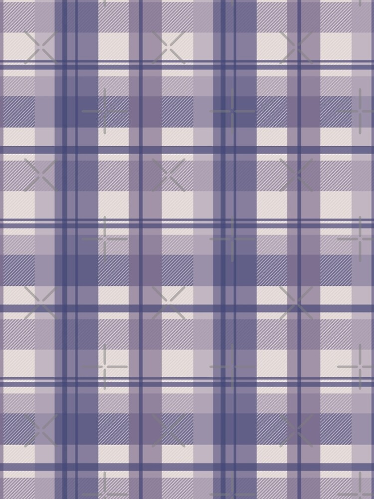 winter plaid in cool lavender and sand seamless pattern	 by nobelbunt