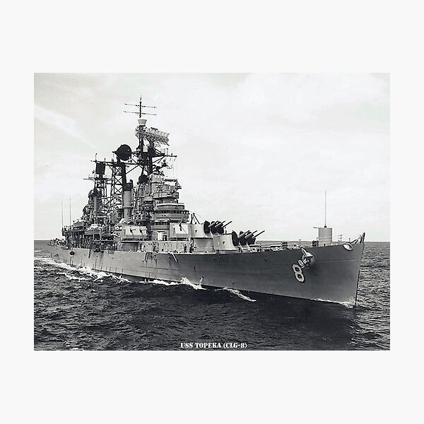 USS TOPEKA (CLG-8) SHIP'S STORE Photographic Print