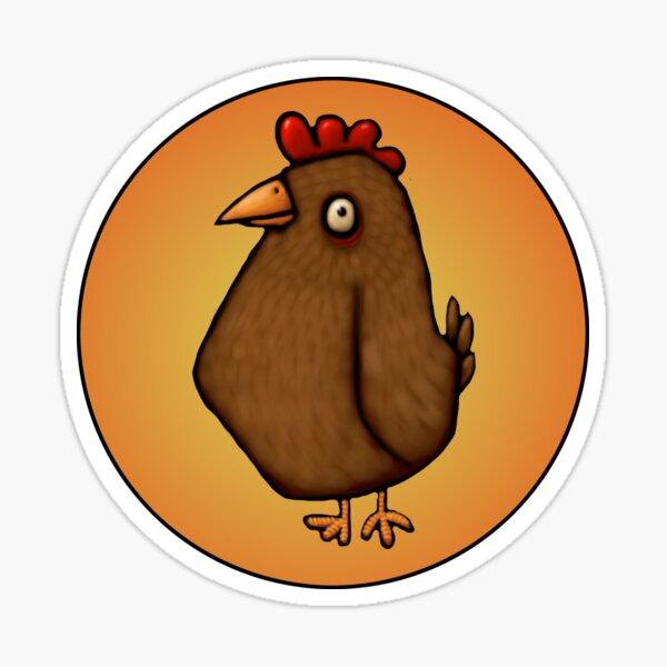 Red Chicken Standing Tall Sticker
