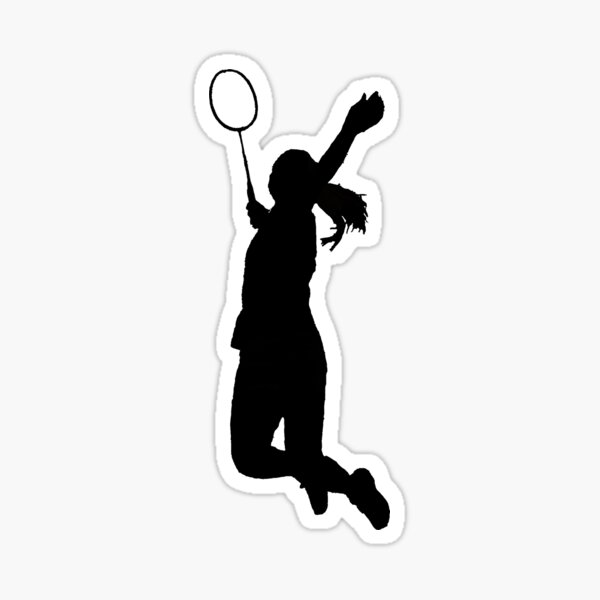 Badminton Player Sticker