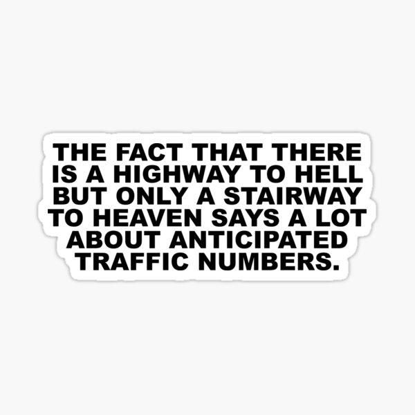 Autobahn zur Hölle Sticker