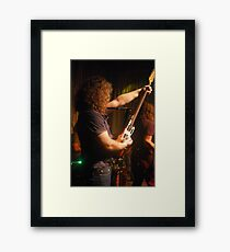 Smoke Machine going for it Framed Print