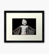 Marbelized Beauty Framed Print