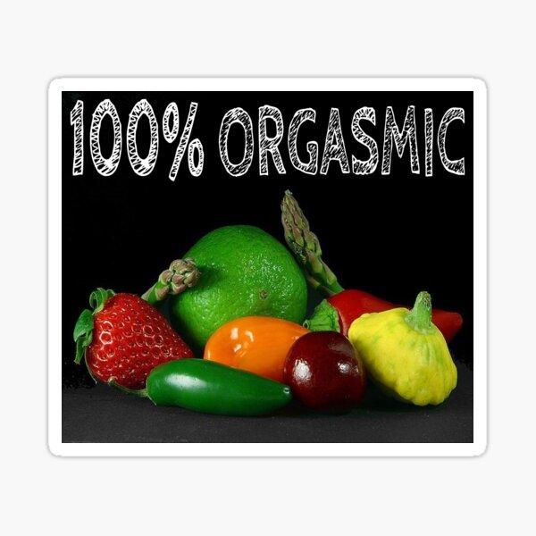 100% Orgasmic Sticker