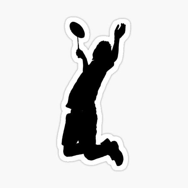 Badminton Player Smash Sticker