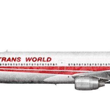 TWA L-1011 Tristar Airliner Shirt by boscotjones