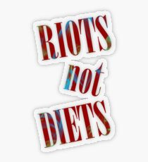 Riots not Diets Transparent Sticker