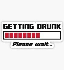 Betrunken Bitte warten Ladebalken Sticker