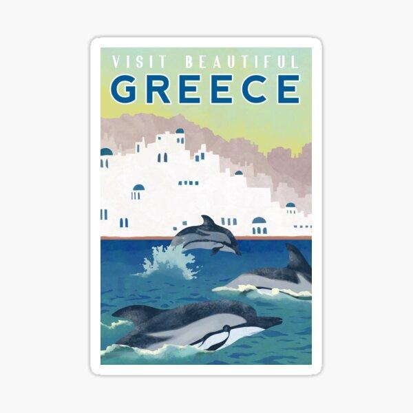 Greece Travel Poster Sticker