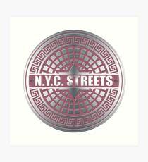 Lámina artística Manhole Covers NYC Pink