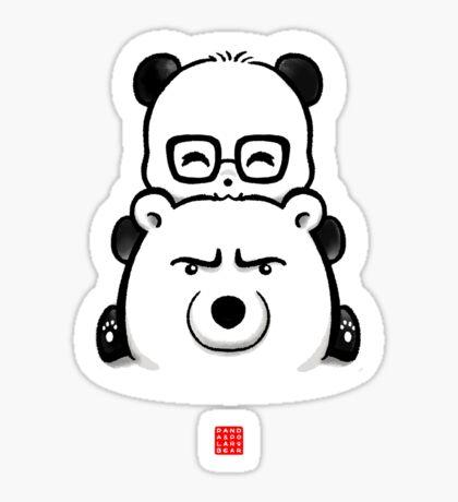 Panda And Polar Bear Sticker
