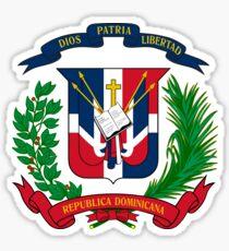Pegatina Escudo de armas de la República Dominicana