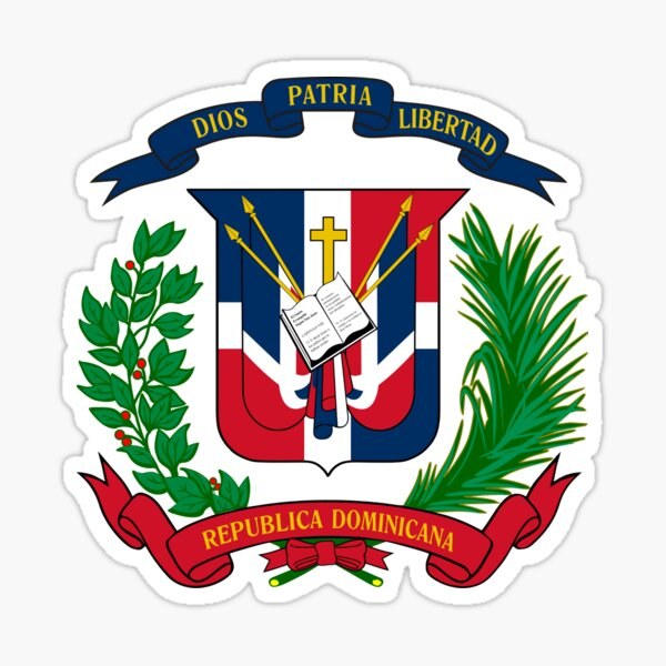 Escudo de armas de la República Dominicana Pegatina